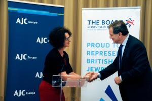 Gillian Merron, Directrice exécutive du BoD, et David Harris, Directeur exécutif d'AJC